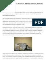 Estructura Lógica de Un Disco Duro (Cilindros, Cabezas, Sectores, Pistas, Cluster…)