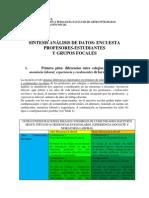 Análisis General de Encuestas y Grupos de Discusión- Tita
