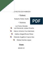 PROYECTOS DE INVERSIÓN JUEVES 10