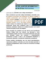 Deontología Del Auditor Informático y Código de Ëtica Profesional1