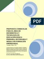 Introducción Plan Area Infotec 2011 Prescolar a Once Actualizado