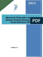 Manual Uso Sistema Gratuito Emissor de Nota Fiscal Eletrônica