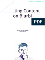 Creating Content on Blurbi V2 (September 2014)