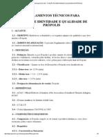 Apacame - Mensagem Doce 52 - Fixação de Identidade e Qualidade de Própolis