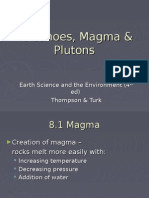 Volcanoes, Magma & Plutons