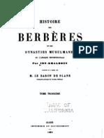 Histoire des Berbères 3/4, par Ibn Khaldoun