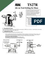 Haas TS27R Quick Start