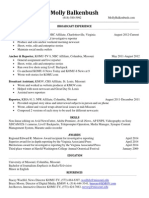 Molly Balkenbush Resume 2014
