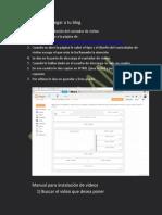 Manual Para Agregar a Tu Blog