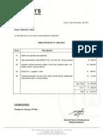 Presupuesto Eduardo Calero