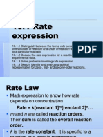 Rate Law Chemical Knietics