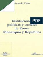 Antonio Viñas, Instituciones Políticas y Sociales de Roma. Monarquía y República