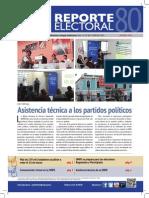 Reporte Electoral N° 80