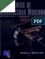 Fundamentos de Manufactura Moderna -- Groover
