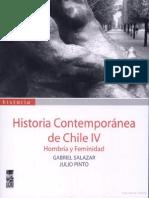 Salazar, Gabriel - Historia Contemporánea de Chile -Hombría y Feminidad -Tomo IV