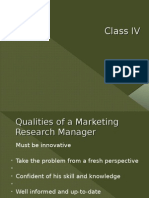 Marketing Research - IV