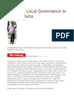 Toy Pistol Local Governance in Hambanthota