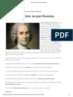 Ocho Frases de Jean Jacques Rousseau