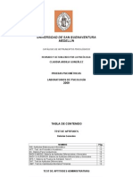 Catalogo Pruebas de USBmed