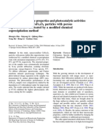 Surface Photovoltage Properties and Photocatalytic Activities of Nanocrystalline CoFe2O4 Particles With Porous Superstructure Fabricated by a Modified Chemical Coprecipitation Method