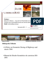 Ing de Carreteras 2011-1-Clase1