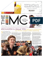 The Specialty Coffee Association of America's (SCAA) Event Newspaper, The Morning Cup - Issue No. 1,  2014