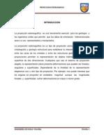 INFORME DE PROYECCION ESTEREOGRAFICA