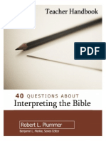 Section 3 from Plummer's 40 Questions about Interpreting the Bible