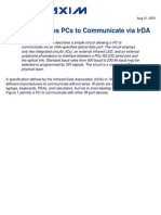 Circuit Enables PCs to Communicate via IrDA