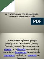 Intencionalidad y Metodo Fenomenologico Ejemplo