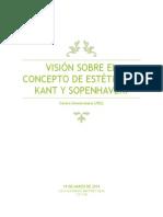 Visión Sobre El Concepto de Estética en Kant y Sopenhaver