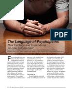 El Lenguage de Los Psicopatas