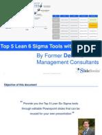 Lean 6 Sigma Tools - Templates