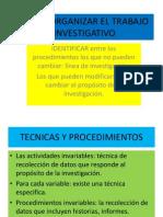 Como Organizar El Trabajo Investigativo