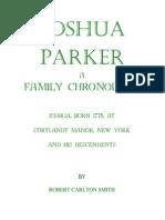 A Joshua Parker Chronology v4a