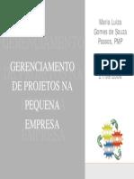 21-09 Gerenciamento de Projetos Pequenas Empresas - Maria Lu