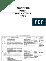 Yearly Plan Kimia 5, 2013