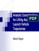 Analytic Considerations for Lifting Ascent Launch Vehicle Trajectories