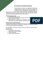 Tipos de Mezcla de Nutrición Parenteral