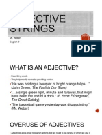 Adjective String Powerpoint