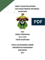 Tujuan Pelaporan Keuangan Dan Karakteristik Informasi Akuntansi