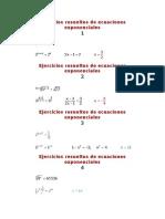 Ejercicios Resueltos de Ecuaciones Exponenciales
