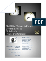 informe ecologia bioindicadores