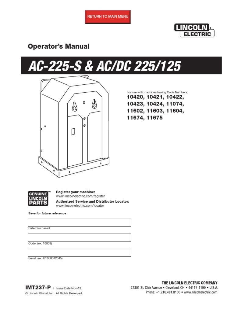 Lincoln Ac 225 Wiring Diagram Parts Fantastic Welder Component Digrm