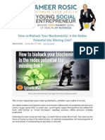 How to Biohack Your Biochemistry