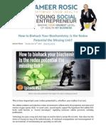 How to Biohack Your Biochemistry