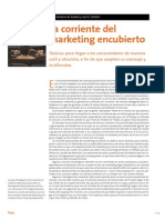 La Corriente Del Marketing Encubierto