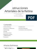 Oclusiones Arteriales de La Retina