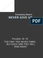 Wisdom Never Give Up Presentation