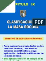 Clasificación Masa Rocosa IX2007I
